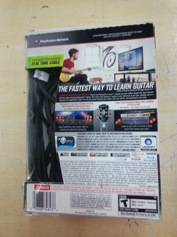 SONY Sony PlayStation 3 Game ROCKSMITH ALL-NEW 2014 EDITION