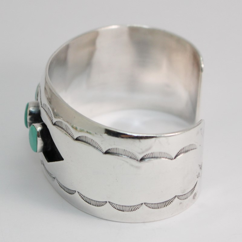 Native American Turquoise/.925 Design Inspired Cuff Bracelet