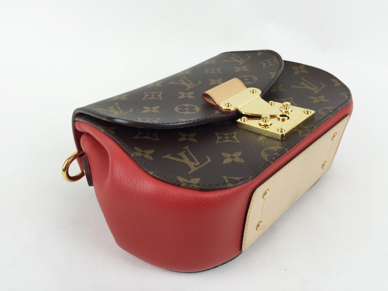 LOUIS VUITTON EDEN PM MONOGRAM W RED ACCENT