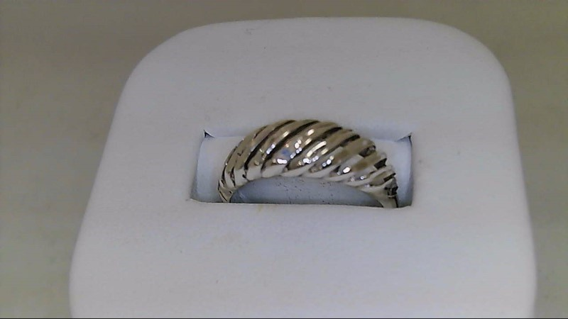 Lady's sterling silver size 8 dome ring