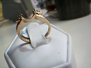 Lady's Gold-Diamond Ring Guard 6 Diamonds .12 Carat T.W. 14K Yellow Gold 2.2g
