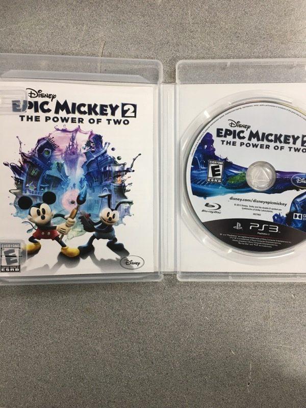 SONY Sony PlayStation 3 Game DISNEY EPIC MICKEY 2 THE POWER OF TWO