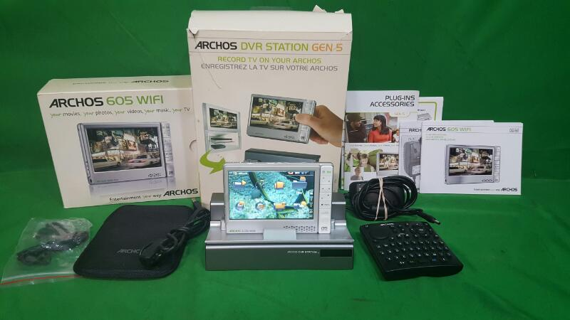 Archos 605 Wi-Fi with DVR Station GEN 5 dock and Remote Portable Media Player