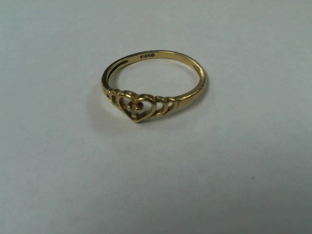 Lady's Gold Ring 10K Yellow Gold 1.2g