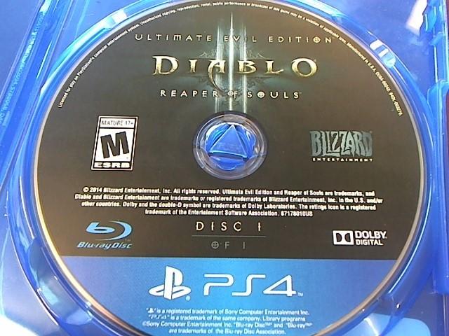 SONY PS4 DIABLO III REAPER OF SOULS - DISC ONLY