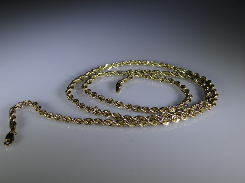 Gold Rope Chain 10K Yellow Gold 2.2g