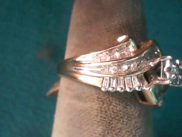 Lady's Diamond Fashion Ring 31 Diamonds .45 Carat T.W. 10K Yellow Gold 3.2dwt