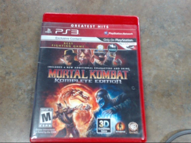 SONY Sony PlayStation 3 Game MORTAL KOMBAT KOMPLETE EDITION