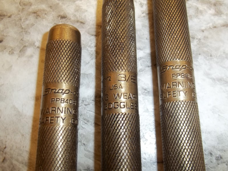 SNAP ON 3PC BRONZE PUNCH SET