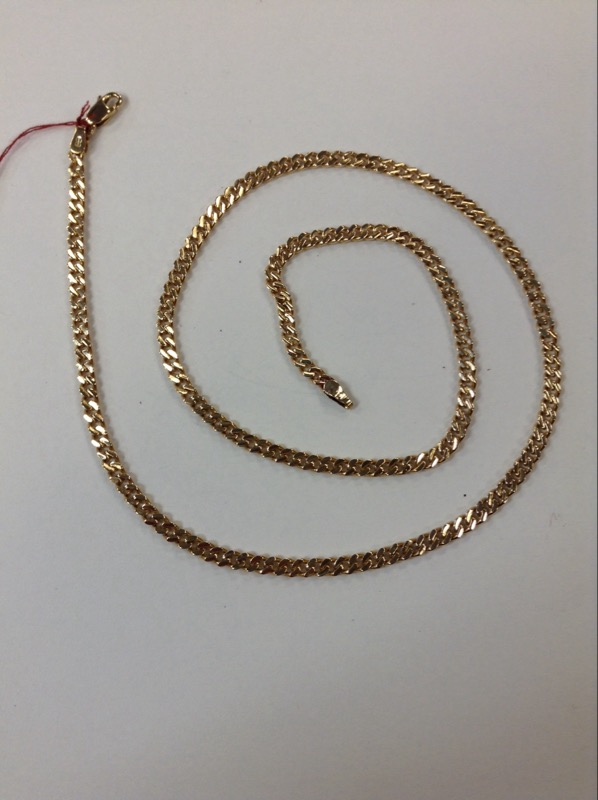 "20"" Gold Curb Chain 14K Yellow Gold 14.2g"