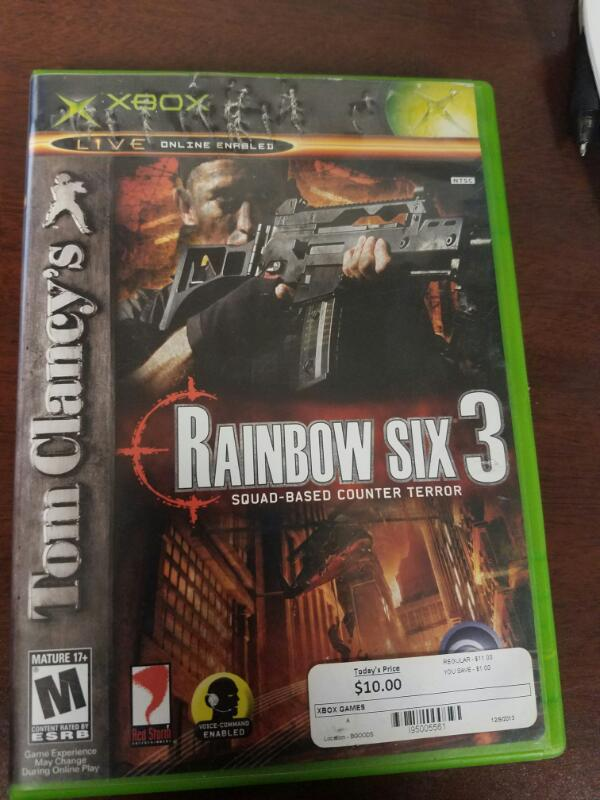 MICROSOFT XBOX 360 TOM CLANCY'S RAINBOW SIX 3 SQUAD- COUNTER TERROR