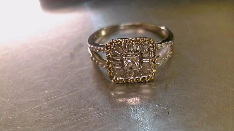 Lady's Diamond Fashion Ring 69 Diamonds 1.35 Carat T.W. 14K White Gold 3.89g