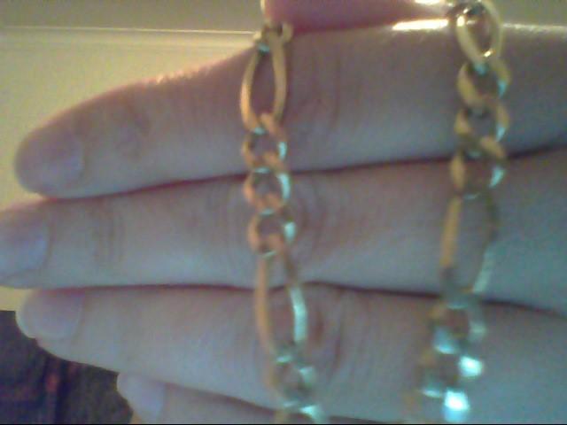 Gold Figaro Bracelet 14K Yellow Gold 10.5g