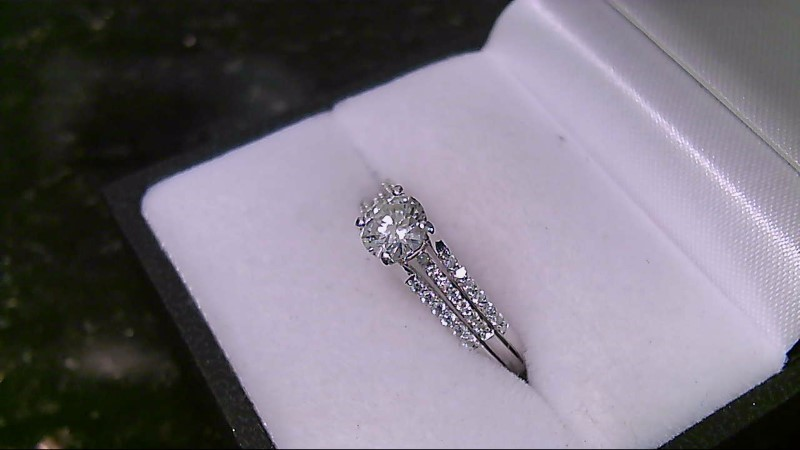 Lady's Diamond Engagement Ring .55 CT. 14K White Gold 4.6g