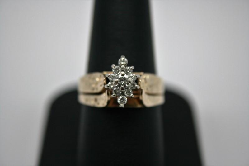 LADY'S FASHION DIAMOND WEDDING SET 14K YELLOW GOLD