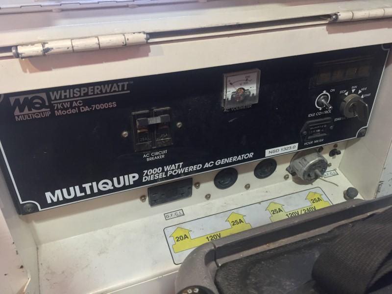 MULTIQUIP DA-7000SS Z482 WHISPERWATT DIESEL GENERATOR - 11092 HOURS