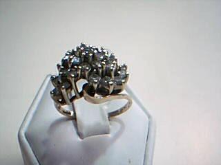 Lady's Diamond Cluster Ring 25 Diamonds 1.75 Carat T.W. 14K Yellow Gold 6.3g