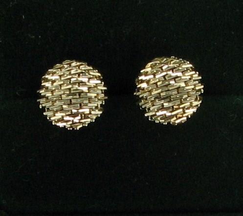 Gold Earrings 14K Yellow Gold 2.2dwt