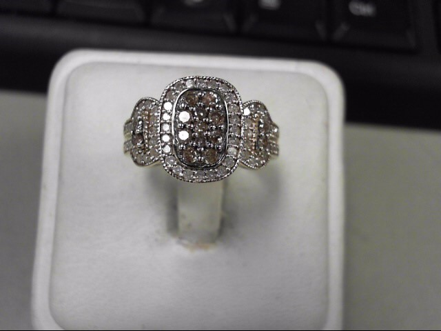 Lady's Diamond Fashion Ring 73 Diamonds .88 Carat T.W. 10K Yellow Gold 4.17g