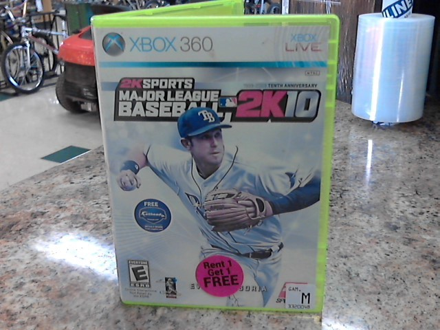 MICROSOFT Microsoft XBOX 360 Game 2K SPORTS MAJOR LEAGUE BASEBALL 2K10