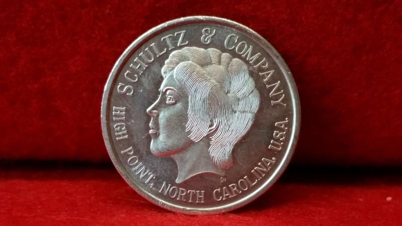 .999 Fine Silver 1/2 Ounce Round - 1971 Half Eagle