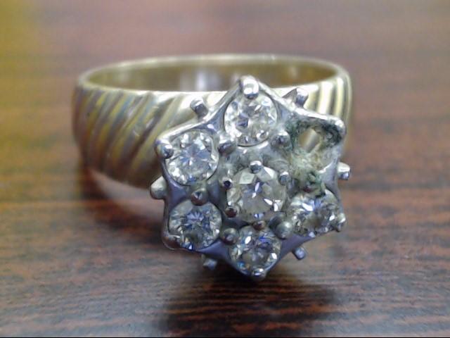 Lady's Diamond Engagement Ring 7 Diamonds .77 Carat T.W. 10K Yellow Gold 7g