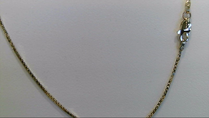 14k yellow gold 18inch box chain