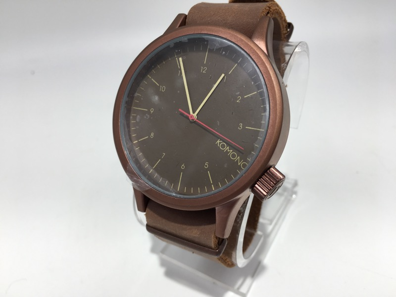 KOMONO Men's Wristwatch MAGNUS Bronze Brown Genuine Leather Band