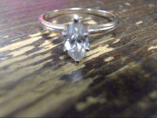Lady's Diamond Solitaire Ring .40 CT. 14K Yellow Gold 1.5g Size:4.8