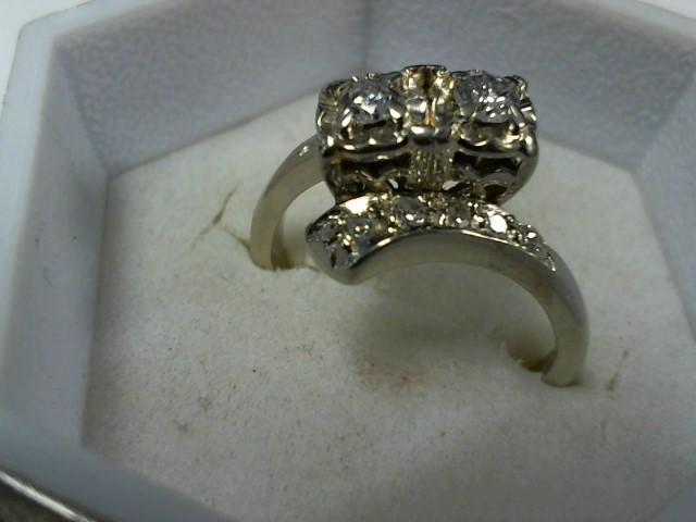 Lady's Diamond Cluster Ring 12 Diamonds .20 Carat T.W. 14K Yellow Gold 3.9g