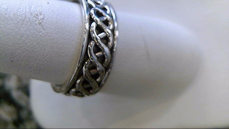 Gent's Silver Ring 925 Silver 6.7g Size:10