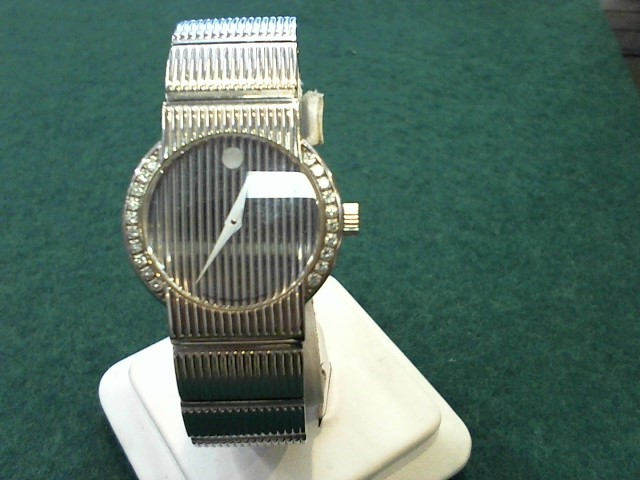 MOVADO Lady's Wristwatch 84-G4-1842 W/DIAMONDS MUSEUM CONCERTO