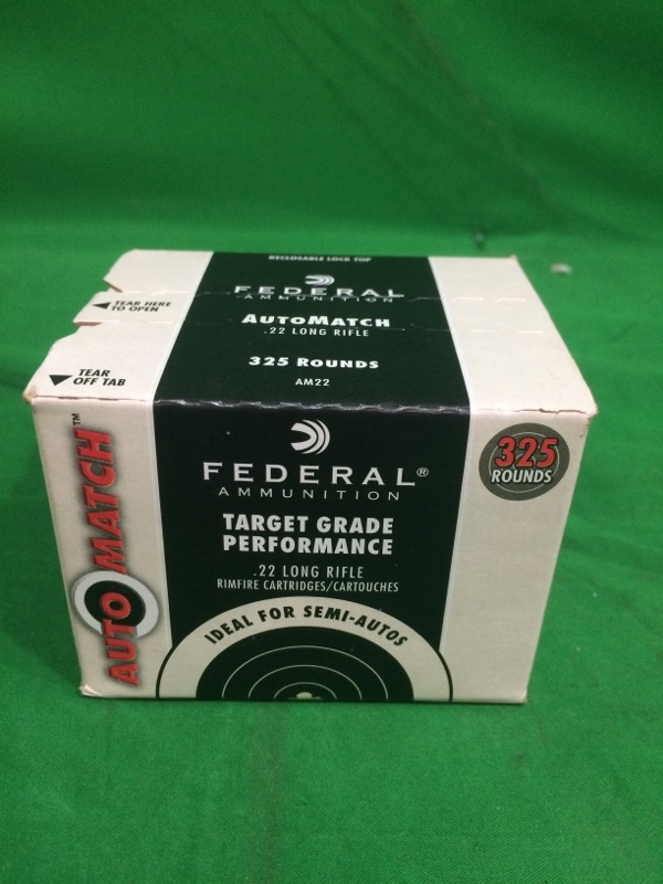 FEDERAL AMMUNITION Ammunition AUTOMATCH .22 LR 325 RNDS