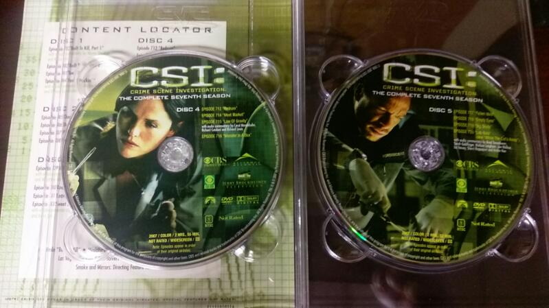 CSI 7TH SEASON 7 DISK DVD SET