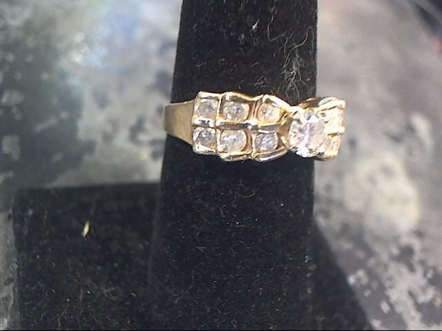 Lady's Diamond Engagement Ring 13 Diamonds 1.40 Carat T.W. 14K Yellow Gold