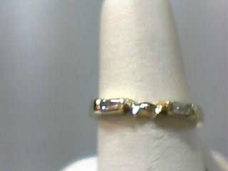 Lady's Gold-Diamond Ring Guard 2 Diamonds .16 Carat T.W. 14K Yellow Gold 1.7dwt