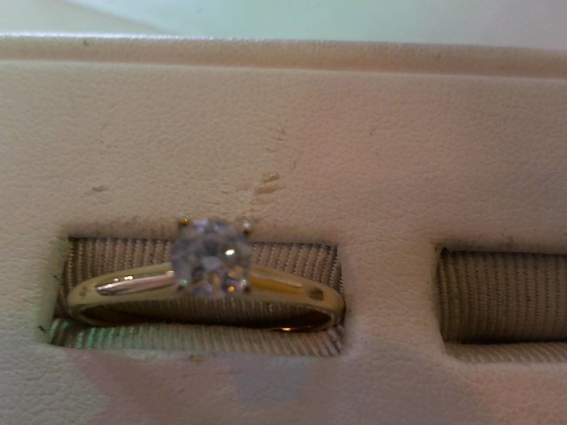 Lady's Diamond Solitaire Ring .47 CT. 14K Yellow Gold 2.3g