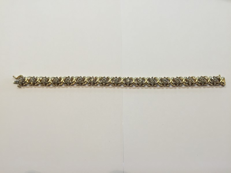 Gold-Diamond Bracelet 119 Diamonds 2.38 Carat T.W. 14K Yellow Gold 24.31g
