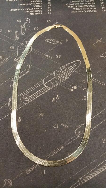 Gold Herringbone Chain 10K Yellow Gold 4.7dwt