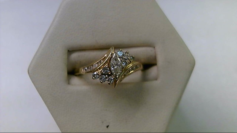 Lady's Diamond Engagement Ring 17 Diamonds .49 Carat T.W. 14K Yellow Gold 3.4g