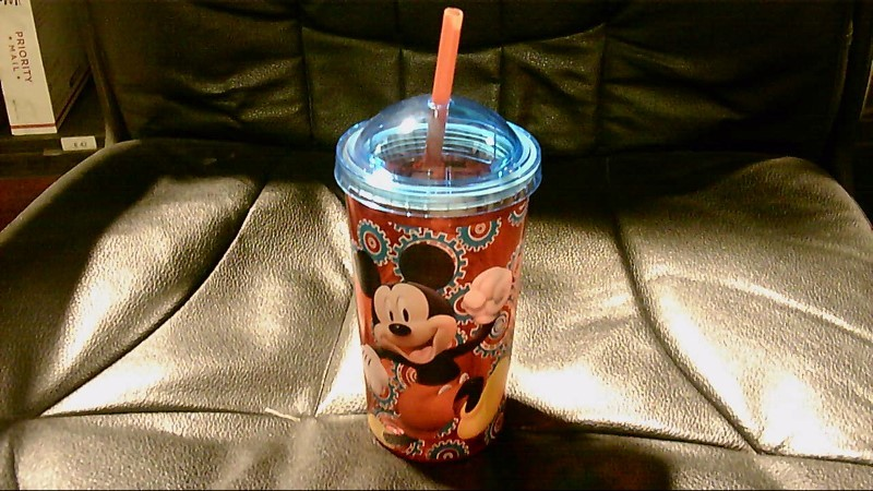 DISNEY MICKEY MOUSE DRINKING CUP LET'S GO!