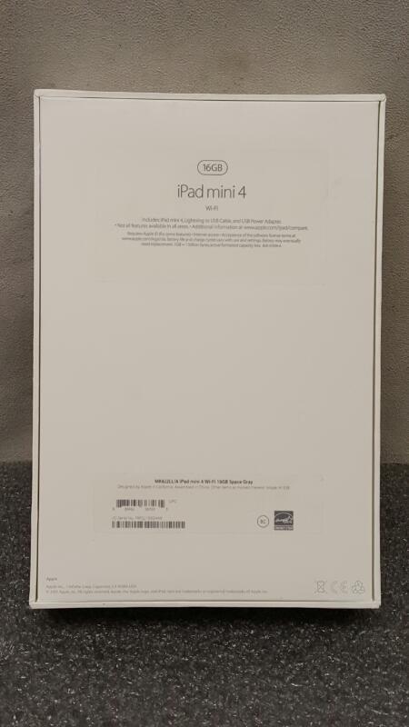 Apple iPad Mini 4, Wi-Fi, 16GB, Space Gray (MK6J2LL/A)