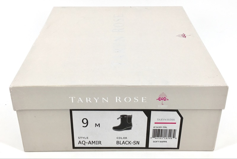 Taryn Rose Aq Amir Leather Boot, Black, Size 9