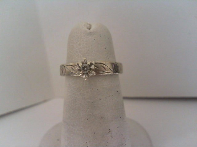 Lady's Silver-Diamond Ring .05 CT. 925 Silver 2.6g