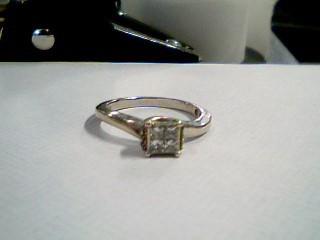 Lady's Diamond Cluster Ring 10 Diamonds .30 Carat T.W. 10K White Gold 2.5g