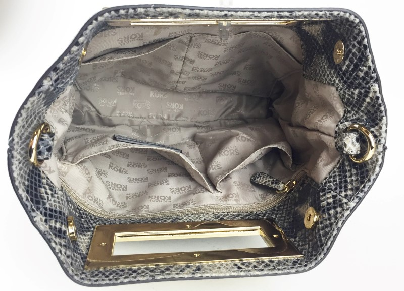 MICHAEL KORS MEDIUM PYTHON MESSENGER SHOULDER BAG