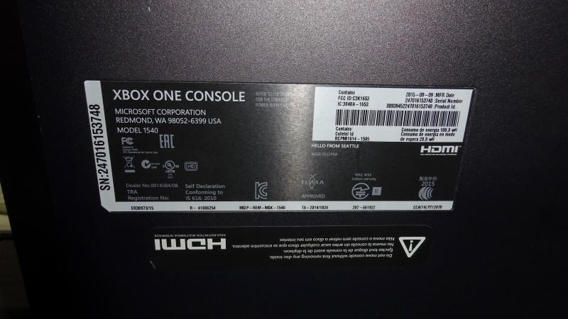 MICROSOFT XBox ONE XBOX ONE - CONSOLE - 1TB - ELITE BUNDLE