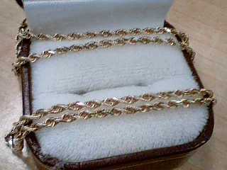 "25"" Gold Rope Chain 10K Yellow Gold 6.8g"