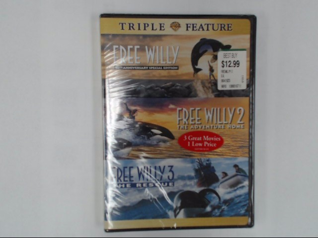 DVD BOX SET FREE WILLY COLLECTION TRIPLE FEATURE