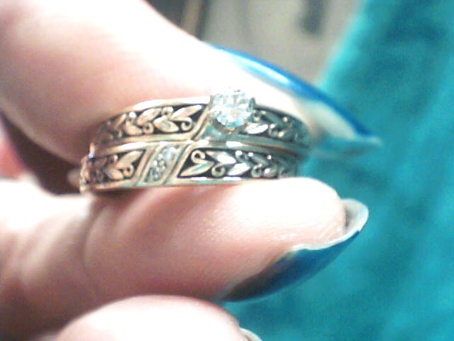 Lady's Diamond Wedding Set .11 CT. 10K Yellow Gold 3dwt